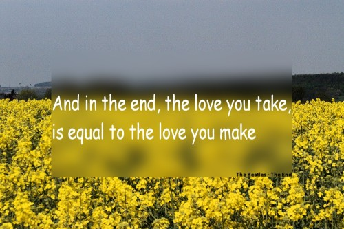 Quote 1: The Beatles – The End